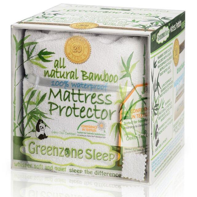 Cal King Mattress Protector Topper Waterproof Pad Cover Bamboo Bedding Sheets