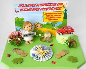 Details Zu Geldgeschenk Zum Bestandenen Führerschein Auto Schutzengel Karte Geschenk