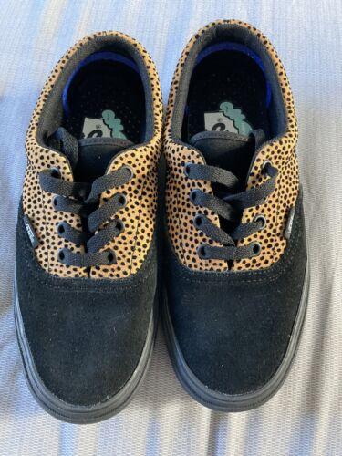 Negro y estampado de leopardo Vans Talla 4