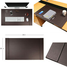 34x20 Large Premium Genuine Leather Office Home Work Desk Mat Laptop Mouse Pad
