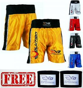 EVO-Men-Boxing-Fight-Shorts-MMA-Kick-Boxing-Martial-Arts-Gear-Muay-Thai-UFC