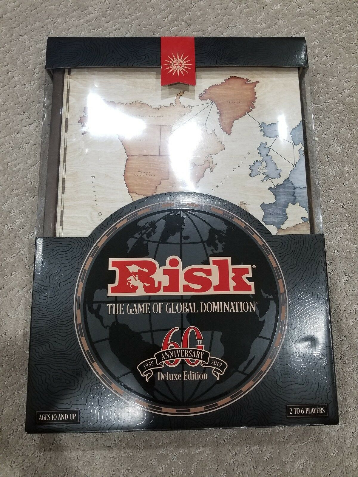 2019 Risk 60th Anniversary Rare Deluxe Edition Strategy Board Game