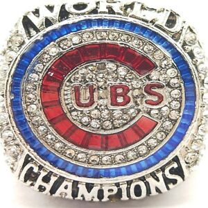 2016 Chicago Cubs Rizzo MLB World Series 18k Gold Plated Championship Ring SZ 14