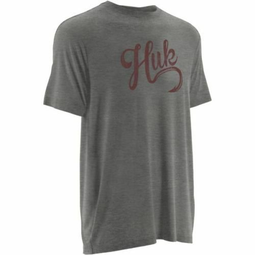 NEW HUK Script Logo Performance Breathable Fishing S//S T Shirt Choose Size