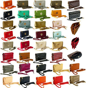 Small-Clutch-Bag-Multi-Compartment-Pocket-Cross-Body-Purse-With-Wrist-Long-Strap