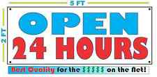 Full Color Open 24 Hours Banner Sign All Weather New Xl Larger Size