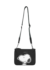 CODELLO Canvas PEANUTS Snoopy Umhängetasche Clutches schwarz 92081107 NEU