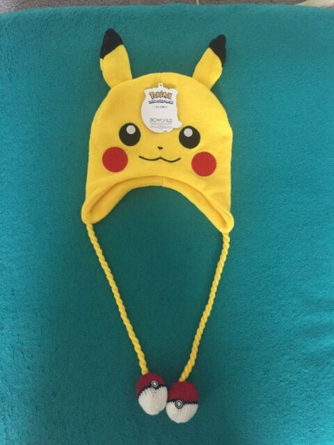 e15a605df9a NWT Pokemon Pikachu Laplander Winter Beanie Hat One size NEW unisex fall  spring