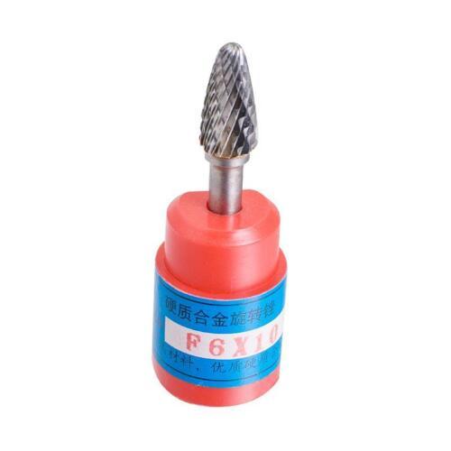 "Cylindrical Cut Tungsten Carbide Burr Bur Cutting Tool Die Grinder Bit 1//4/"" F6"