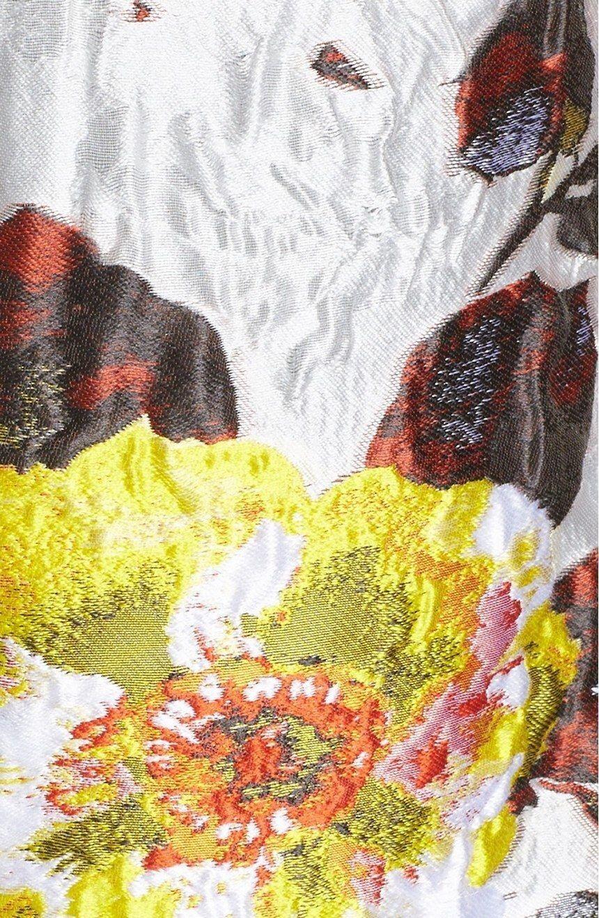 OSCAR DE LA RENTA Floral Matelassé Strapless Strapless Strapless Multi color Dress NWT 6  3600 c2c3b4