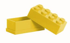 LEGO Storage MINI Snackbox 8 GELB perfeckt in Brotdose Schule Lunchbox YELLOW