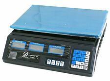 40Kg Digital Scale Electronic Price Computing Weight Shop Market UK Adapter