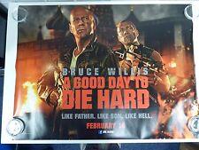 A Good Day to Die Hard Willis Action Original Film Movie Poster Quad 76x102cm