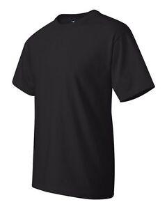 414bd82f 6 Wholesale Lot Hanes Beefy-T 5180 Cotton Black Adult Bulk T-Shirts ...