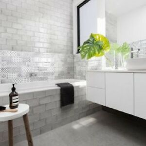 Details About HAREWOOD LIGHT GREY KITCHEN/BATHROOM WALL TILES 10 X 20cm JOB  LOT OF 5 SQ.METERS