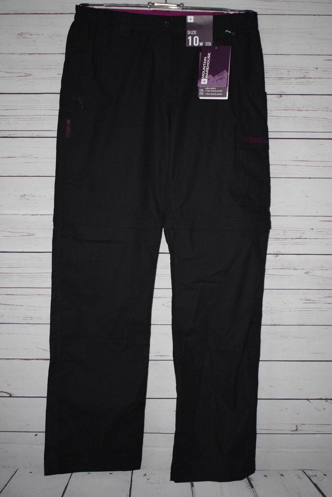 Mountain Warehouse Long Zip can be shortened daSie Trousers Trek Größe 38