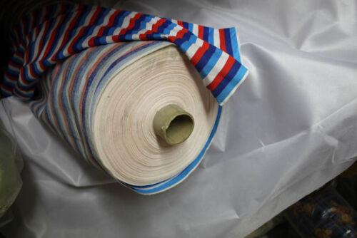 10 km tissu 1,40 m de large Seulement 1,95 par mètre rayures bleu rouge blanc