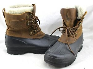 POLO-Ralph-Lauren-Landen-Dy-Goods-Brown-Leather-Shearling-Duck-Hiking-Boots-10