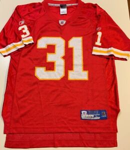 Details about Priest Holmes Red Kansas City Chiefs NFL Jersey Youth Large (14-16) #31 Vintage