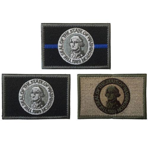 USA Evergreen State Washington WA DRAPEAU ARMÉE TACTIQUE MORAL badge Crochet Ops Patch