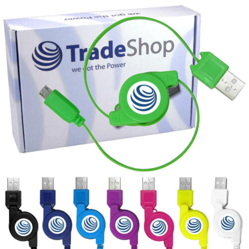 Cable USB cable de carga extensible roll cable para Simvalley Mobile spx-12