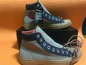 Converse-Chuck-Taylor-Boot-PC-HI-leather-kaki-blue-orange-Sz-Men-s10-womens12