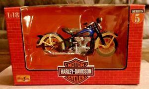 Maisto-Harley-Davidson-1936-El-Knucklehead-1-18-Diecast-Motorcycle-Series-5