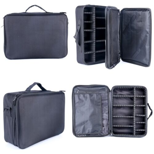 Black Color Makeup Cosmetic Case Beauty Artist Storage Tools Brushes Bag gift