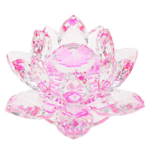 Crystal-Lotus-Flower-Crafts-Paperweights-Glass-Model-Feng-Shui-Decor-Pink