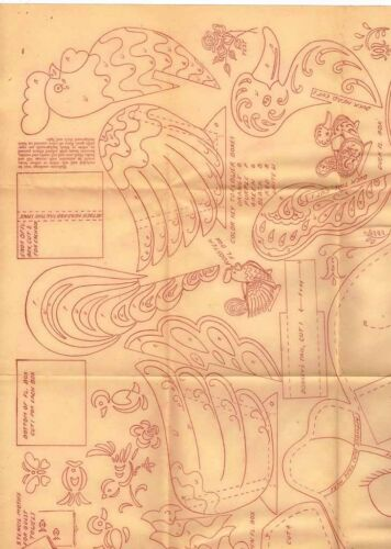 1940s Workbasket Embroidery Transfer #91 Uncut Stuffed Animal Donkey Toy /& More