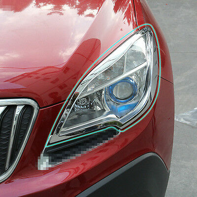 Front Bumper Fog Light Chrome Cover For Mokka Buick Encore 2013 2014 2015