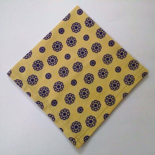 Men Women Unisex FLORAL PRINT 100/% Cotton Pocket Square Handkerchief Hanky