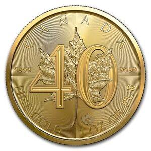 1-oz-Gold-40-Jahre-Maple-Leaf-2019-praegefrisch-Sonderpraegung-zum-40-Jubilaeum