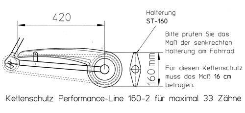 Fahrrad Kettenschutz DEKAFORM Giant Herkules VSF 160-2 bis 33 Z* Nabenschaltung