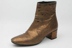 Lineazeta Stiefeletten gold Leder Damen Schuhe Gr. 41 (UK 7)