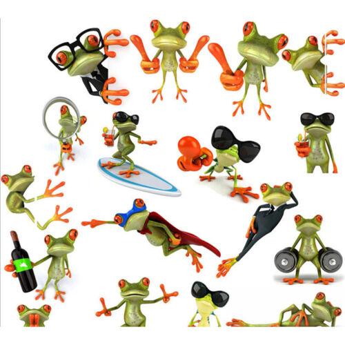 3D Cartoon Frog Car Truck Window Decoration Decal Sticker Pattern Random BSC