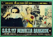T42 FOTOBUSTA OSS 117 MINACCIA BANGKOK HUNBELLE MATHEWS PIERANGELI HOSSEIN