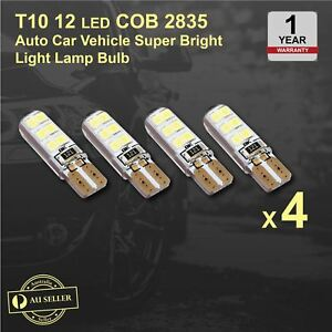 4 x T10 COB SMD 2835 12 LED Auto Car Vehicle CANBUS Super Bright Light Lamp Bulb