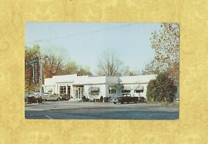 CT-Waterbury-1964-vintage-postcard-D-039-Angelos-Restaurant-1700-Watertown-ave-Conn