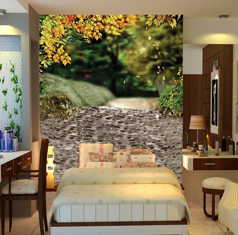 3D Stone Leafs Road 7 Wall Paper Murals Wall Print Wall Wallpaper Mural AU  Kyra