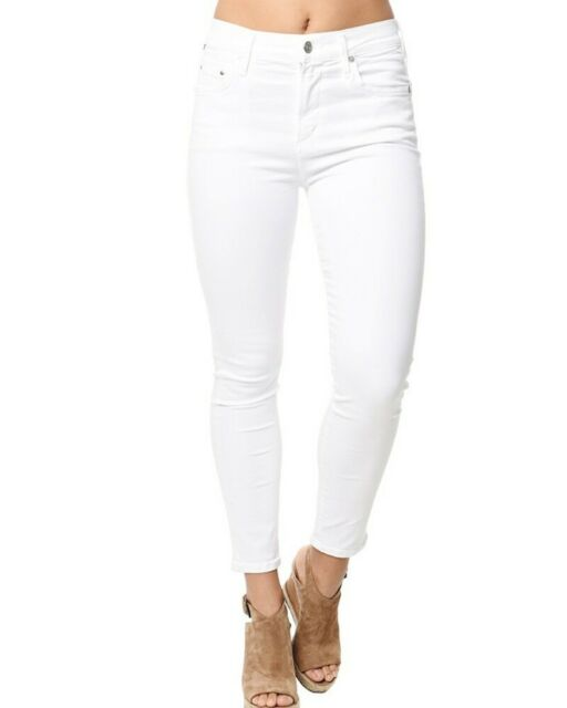 32174dc2bbd CITIZENS OF HUMANITY Women's WHITE ROCKET CROP HIGH RISE SKINNY JEANS - 26