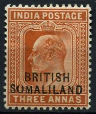 "British Somaliland 1903 SG#28b 3a Orange-Brown ""Sumaliland"" Variety Error#D24681"