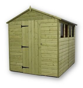 image is loading garden shed 6x7 shiplap apex roof tanalised pressure