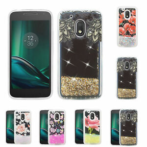 new products 51e8f 13779 Details about Motorola Moto G4 Play Case, Moto G Play 4th Gen Liquid  Glitter Quicksand Cover