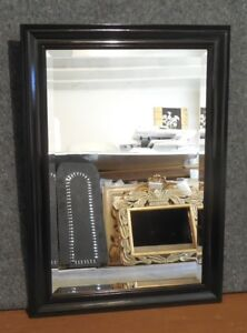 Large Ornate Black Solid Wood 31x43 Rectangle Beveled Framed Wall Mirror 9780679736783 Ebay