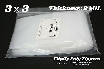 """1,000 Bags per Case 5 Cases 3/"""" x 6/"""" 3 Mil Poly Bags"""