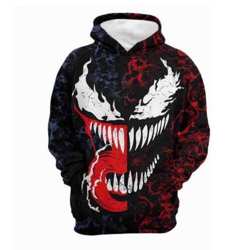 Venom Herren Tops Hoodies Kapuzen Pullover Sweatshirt Kapuzenpullover