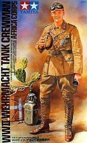 Tamiya WWII German Armed Forces Tank Crewman Africa Corps Figure 1 16 Item 36310