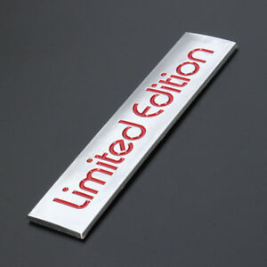 Rouge-Edition-Limitee-Logo-Embleme-Badge-Plastique-autocollant-Decal-Decoration-10-4-cm-x-2-2-cm