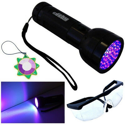 UV Protection Lunettes HQRP 365 Presque comme neuf Ultra Violet Blacklight Flashlight torche Light